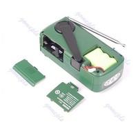Потребительские товары Mini Crank Dynamo Solar FM /MW/SW Emergency World Radio