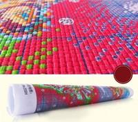 Товары для ручных поделок 1 Set=5 Pieces DIY 3D Cross Stitch Kit Embroidery Tree Cotton Thread 100% Accurate Printed Needlework Rich Pachira Home Decor