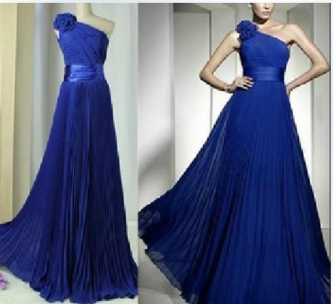 Фото платьев в пол синего цвета
