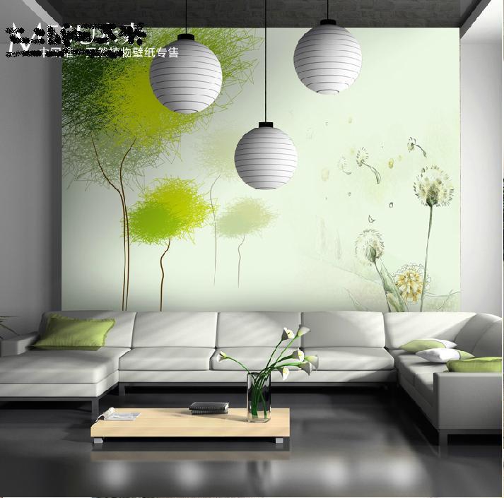 Køb Stort vægmaleri tapet tapet tapet soveværelse TV-indstilling ...