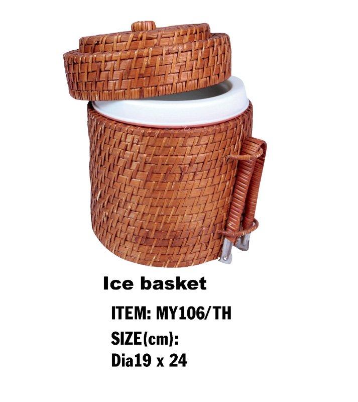 Scatola di bamb vaso del rattan con il coperchio for Bambu in vaso prezzo