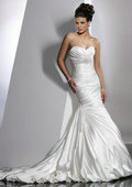 Real Model A-line White Layers Taffeta New Style 2013 Floor Length Wedding Dresses
