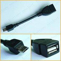Кабель для передачи данных 5/USB USB 2.0 USB OTG Host tablet pc 100pcs/lot