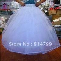 Free shipping white 2 Layer 3 hoop Wedding Dress Petticoat Underskirt