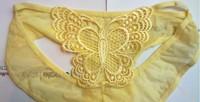Женские трусики-бикини lingerie sexy Butterfly Lace panties translucent temptation women's comfortable low-waist briefs