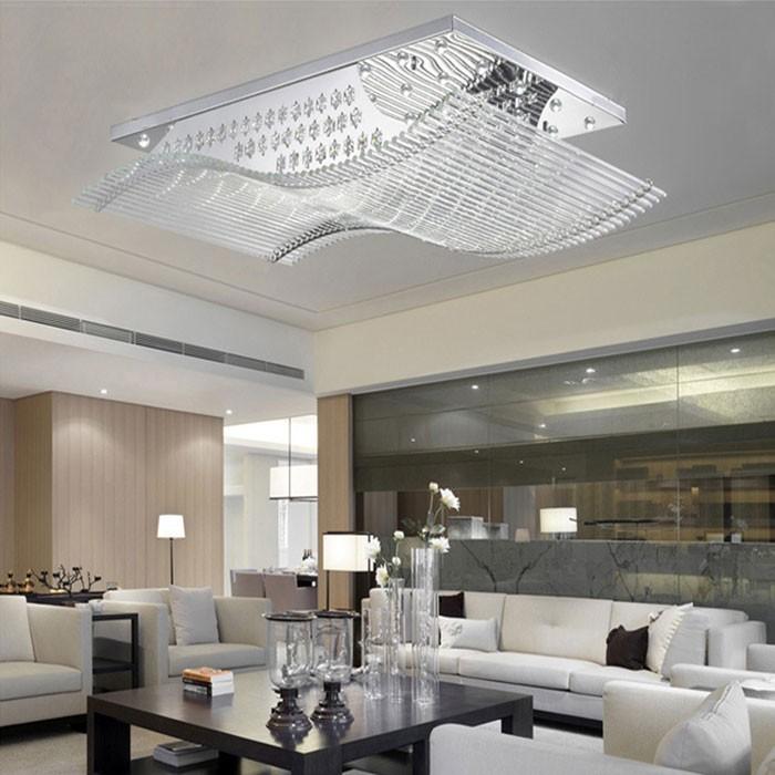 Großhandel Freies Verschiffen Moderne Led Kristall Deckenleuchte ... Moderne Wohnzimmer Deckenleuchten