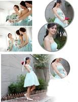 элегантные бандаж короткие вечерние платья платье фиолетовый невесты для свадьбы цветок шифон свадебное платье