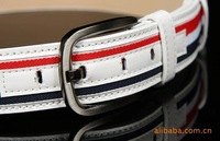 Женские ремни и Камербанды Unisex Fashion canvas belt Color personality Mens strap man Ceinture Buckle Belt men's belt