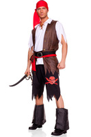 New Arrival! Cool Pirate costumes for men Strong Feeling skull shorts Hot cosplay uniforms