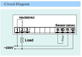 UL CE Refrigerating& heating freezer digital thermostat ED330