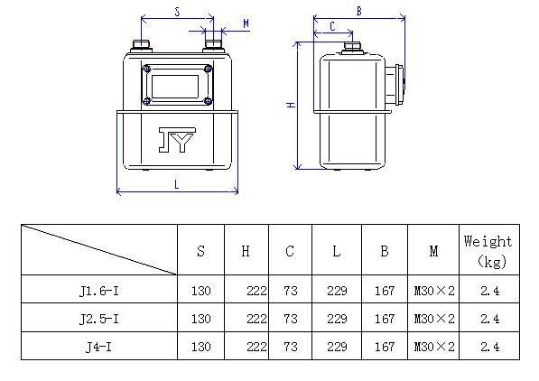 Diaphragm Gas Meter, Theft Proof Steel Body Gas meter