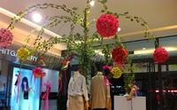 Диаметр 25 см Искусственная роза цветок мяч Люкс Свадебный декор пользу партии целовать шары свадебный букет