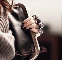 Клатч FLYING BIRDS 2012 Hot Sale High Quality PU Leather Fashion Skull Ring Culth Bag Gorgeous Gem Handbag WG2014
