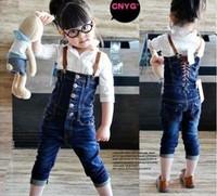 Комбинезон для девочек 5pcs/lot kids wear denim overalls girls beautiful pants popular jeans, jumpsuit, fashion personality