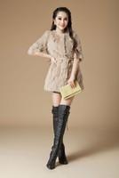Женская одежда из меха New Genuine rabbit fur coat women rabbit fur jacket winter fur waistcoats custom big size EMS TF056