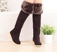 Женские ботинки 2013 new autumn and winter snow boots for women flat high-leg boots tall boots over-the-knee long boots! Hot sale