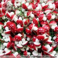 100pcs/lot 16 * 20 мм пенопласта гриб с стволовых искусственные мини-украшение Цветы грибов diy рукоделие