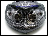 Глава свет обтекатель мотоцикл street fighter выглядят голые mx Супер Мото smr углерода