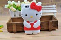 Чехол для для мобильных телефонов 3D Hello Kitty Cute TPU Soft Silicone Back Case Cover Skin for iPhone 5 5th +Drop Shipping