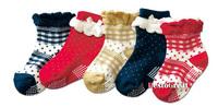 Носки для мальчиков Cute Baby Toddle girls Kids Child Lace Anti skidding Socks 9~15cm