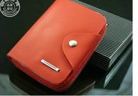 Детали и Аксессуары для сумок new 5 colors Genuine leather men fashion wallet, men designer brand cow leather purse, short zipper brand wallet for men/369