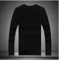 Мужская футболка 2013 Men's Fashional Music Earshone Long Sleeve Lycra T Shirt, Lovers T-shit Top Tees, A018