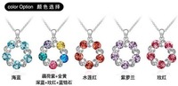 Free shipping fashion women pendant necklaces  gift for lady crystal