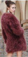 Страус волос мода меха Страусиный мех fether вокруг шеи Рождественский подарок