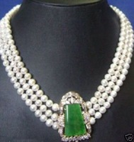 surprisingly freshwater pearl Necklace emerald
