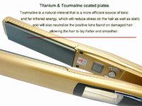 "Утюжок для выпрямления волос Fashion desing 360 ROTATING 1"" Professional Vibrate Plate Titanium brazilian Hair Straightening Flat Iron 470 F Euro plug"