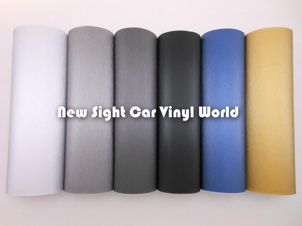 High Quality Grey Metallic Brushed Vinyl Wrap Film Car Foil Bubble Free Computer Cover Laptop