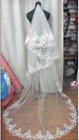 WAV-010 Hot sale 100% Gurantee New Wholesale Retail Court Train Lace edge  Veils