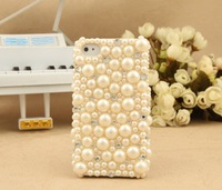 Чехол для для мобильных телефонов hot selling novelty products for iphone 5 case with pearl and diamonds apple iphone 5 accessories