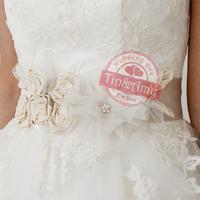 Свадебное платье Flower with Pearl! Advanced customization Real shooting weddingdresses belt NO001