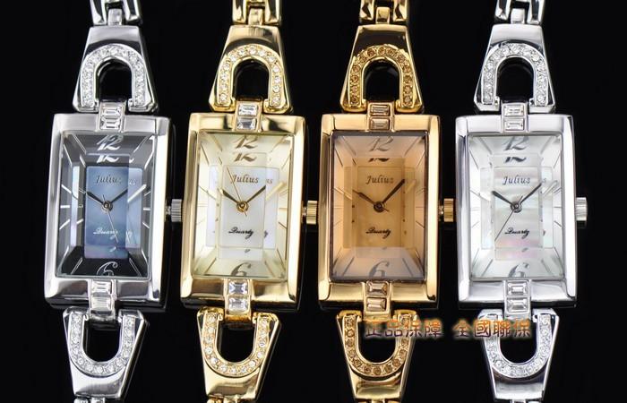 Юлий женские наручные часы кварцевых часов лучший мода платье браслет оболочки нескольких из нержавеющей стали девушки подарок на день рождения JA-443