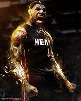 "60 LeBron James Miami Heat 2012 NBA Champion MVP 14""x18"" Wall Poster"