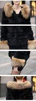 TOP BIG BRAND Real RACCOON Fur coat/Warm garment /women fur.6colors.size M-3XL