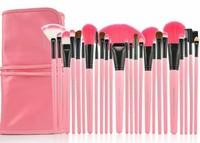 Кисти для макияжа Professional 24 PCS 24PCS Cosmetic Facial Makeup Brushes Kit MakeUp Brush Set Professional Bag Make Up Brushes Pink Color