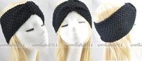 Аксессуар для волос 5 pcs/Lot Winter women Knit Hairband Crochet warmer Head wrap Headband Ear Warmer Gift