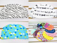новые моды детей Купальники высокого качества нейлон гибкий прочный купальник полосатый многоцветные шапочка для купания