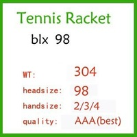 BLX blade 98  Tennis Racket. quality A grade,304g. racket Grip:4 1/4 or 4 3/8  4 1/2