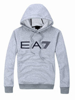 Мужская толстовка 2013 Ea7 men's sweatshirt 100% slim cotton fleece hoodies outerwear male pullover