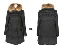 Женские пуховики, Куртки Winter Large Fur Collar Long Puffer Pullover Pregnant Coat Women Maternity Snow Suit Cheap Bubble Thickening Windproof Jacket