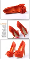 Туфли на высоком каблуке 2012 Westen 15CM Super High Heel & Platform Fashion Women's Pumps With Bowtie