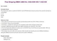 Диагностические кабели и разъемы для авто и мото VAG 409 USB COM, vag 409.1 usb kkl interface, vag409 usb cable FAST