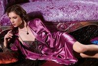 Женский комплект для сна 2012 NEW! Silk Women's pajamas set for Lady Gown nightgown & Sliver L, XL