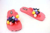 Женские сандалии 2013 Shipping New Flat-bottomed Women's Beach Fashion Leisure Ball Starfish Decoration Cartoon Sandals Flip-Flops