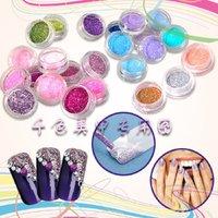 Блестки для ногтей High Quailty Shine Glitter Powder Nail Art 45 colors Fine Glitter Dust Set 045