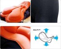 Женская одежда для велоспорта 2012 Men &Women Bicycle Cycling Bike Short Underwear Pants Gel 3D Padded Coolmax Black HOT