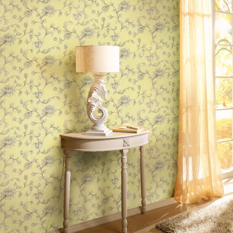 Europese soft colour appeltje vliesbehang voor slaapkamer blauw ...